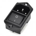 SZGAOY 14080304 Computadora de Escritorio Male Power Socket w / Switch Control - Negro + Plata