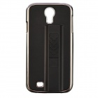 Creative Protective Metal Back Case w/ 250mAh Lighter for Samsung Galaxy S4 N9500 - Black