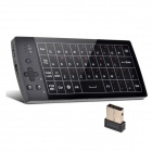 OURSPOP Ultra Mini Wireless 2.4GHz Keyboard with Mouse / Touch Pad - Black