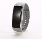 CL-W213 Silicone Band Bluetooth Smart Digital Analog Wrist Watch - Grey + Black (1 x 377)