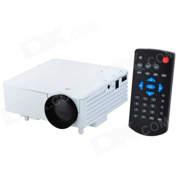 BarcoMAX XP7S High Definition Home Mini Projector w/ USB, SD, HDMI, VGA, AV - White aficionado aficionado afn ww202rw