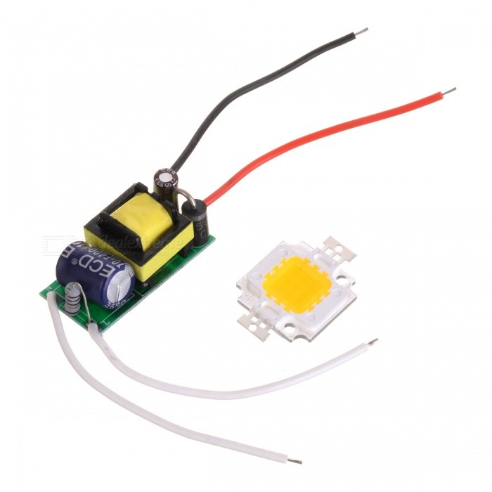 JRLED JRLED-10W-WW 10W 900lm 3200K 1-LED Warm White Light Emitter Board - White + Yellow (86~265V) - DXOther Accessories<br><br>