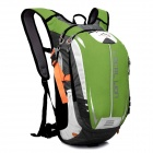 Locallion SPO464 Outdoor Cycling Ultra Light Breathable Double Shoulder Backpack Bag - Green + Black
