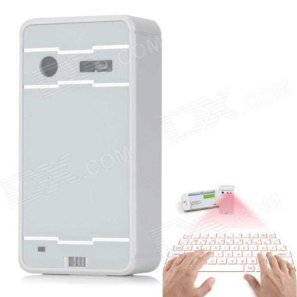 Projection Laser Keyboard Wireless Bluetooth Virtual Keyboard for Computer & Tablet & Phone - White