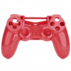 Replacement Plastic Back + Front Case Shell for PS4 Controller - Red