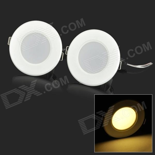 YouOKLight 3W 150lm 3500K 8-SMD 5730 LED Warm White Ceiling Lamps (AC 220V / 2 PCS)
