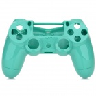 Replacement Plastic Back + Front Case Shell for PS4 Controller - Green