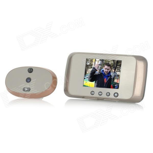 ML-800 3.5 LCD Screen Smart Wireless Visual Digital Peephole Door Viewer w/ Doorbell (3 x AA) 7 inch video doorbell tft lcd hd screen wired video doorphone for villa one monitor with one metal outdoor unit night vision