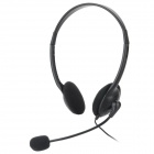 2.5mm Plug Headset w/ Microphone for XBOX360 / XBOX 360 Slim - Black