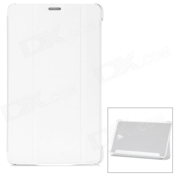 "Protective PU + PC Smart Case w/ Stand for Samsung Galaxy Tab S 8.4"" T700 - White"