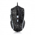 Rapoo V20 USB 2.0 Wired 250~3000DPI LED Optical Gaming Mouse w/ Light - Black (Cable-180cm)