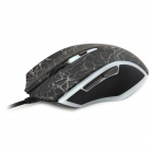 Rapoo V20 USB 2.0 Wired 250 ~ 3000DPI LED Optical Gaming Mouse m / lys-svart (Cable-180cm)
