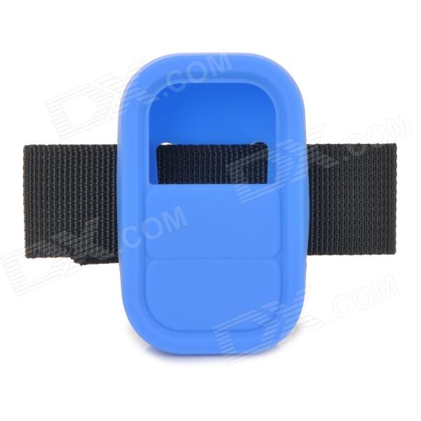 Universal Silicone Case w/ Strap for GoPro Heo3+ Hero3 Wi-Fi Remote Controller - Blue + Black htc u ultra sapphire blue 64gb