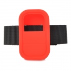 Universal Silicone Case w/ Strap for GoPro Heo3+ Hero3 Wi-Fi Remote Controller - Red + Black