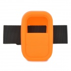 Universal Silicone Case w/ Strap for GoPro Heo3+ Hero3 Wi-Fi Remote Controller - Orange + Black