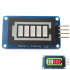 Battery Style Digital Tube LED Battery Level Display Module for Arduino / AVR / ARM / PIC - Blue
