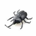 Lifelike 360' Rotating Infrared Remote Beetle w/ LED Eye Toy - Black