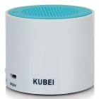 KUBEI 300A Portable Bluetooth V3.0 2.0-CH Speaker for IPHONE / Samsung - White + Blue (42cm)