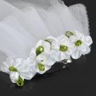 Bridal Veil for Pet Cat / Dog - White + Green (Size S)