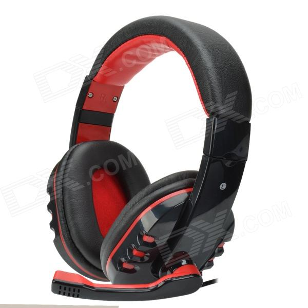 Havit HV-H611D 40mm Stereo Bass Headphone w/ Microphone / Volume Control / 3.5 mm Plug - Black + Red 1more super bass headphones black and red