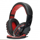 Havit HV-H611D 40mm Stereo Bass Headphone w/ Microphone / Volume Control / 3.5 mm Plug - Black + Red