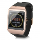 "Wi-watch M5 1.54"" Screen Synchronous Dial Bluetooth V3.0 Smart Watch - Black + Rose Gold"