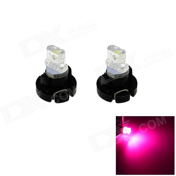 Car Light HONSCO T3 0.2W LED rosa traço Instrumento Board Bulb Lamp (Pair, 12V)
