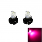 HONSCO T3 0.2W LED Pink Light Car Dash Board Instrument Bulb Lamp (Pair, 12V)
