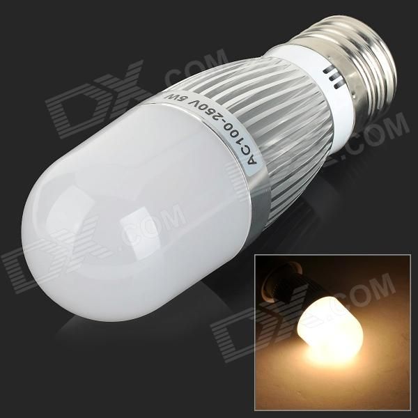 AF055 E27 5W 450lm 3000K 28-SMD 2835 LED Warm White Corn Lamp - Silver + White (100~250V) от DX.com INT