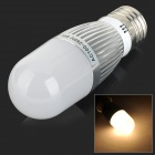 AF055 E27 5W 450lm 3000K 28-SMD 2835 LED Warm White Corn Lamp - Silver + White (100~250V)