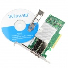 Winyao E10G82599AF SFP+10G Dual Port Fiber Sever Network Card Adapter - Green