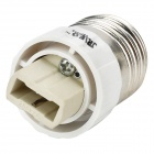 JRLED E27 to G9 Light Lamp Bulb Adapter Converter - Silver + White