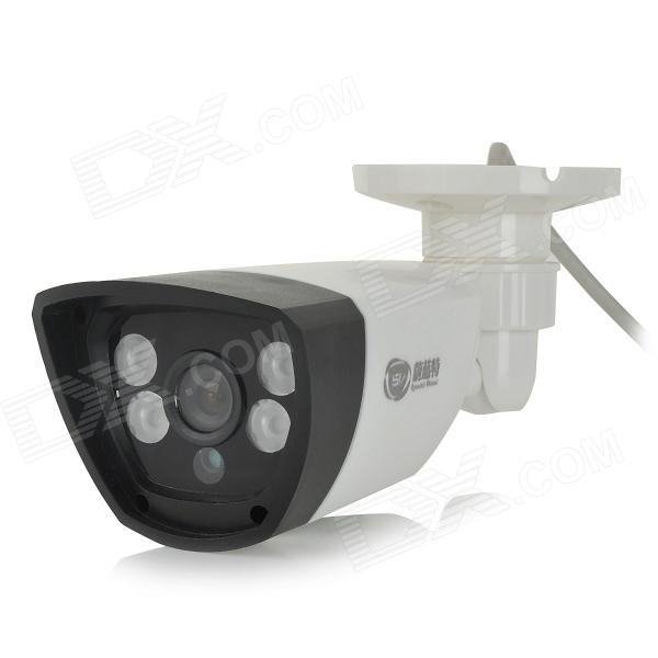 Weilante SV-211E 1/4 '' CMOS 1000TVL CCTV Caméra HD w / IR-Cut, 4 x tableau LED Night Vision (PAL)