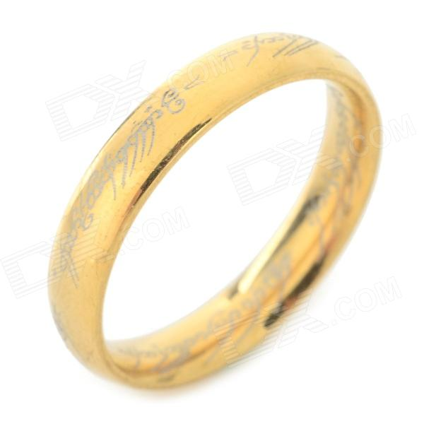 Cool Ring-to-rule-them-all 316L Stainless Steel Ring - Golden (U.S Size 9.5) ring to rule them all 316l stainless steel ring black size 11 5