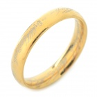 Cool Ring-to-rule-them-all 316L Stainless Steel Ring - Golden (U.S Size 9.5)