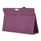 Stylish Flip Open PU Leather Case w/ Stand for 12'' Microsoft Surface Pro 3 - Purple