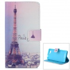 Eiffel Tower Pattern Flip Open Case w/ Stand / Card Slot for Sony Xperia Z1 Mini / D5503 / Xperia Z1