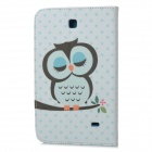 "Stylish Owl Pattern Flip-open PU Case w/ Holder for 7"" Samsung Galaxy Tab 4 / T230 / T231 / T235"