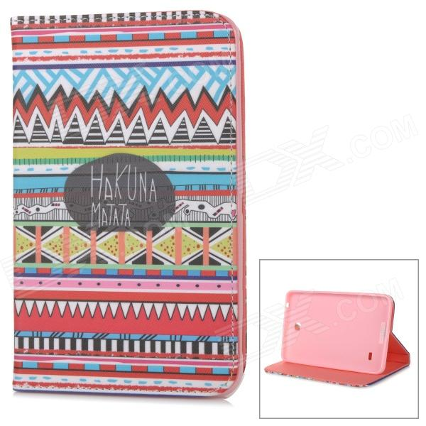 IKKI Flip Open PU Leather + TPU Case w/ Stand for 7.0'' Samsung Galaxy Tab 4 / T230 / T231 / T235