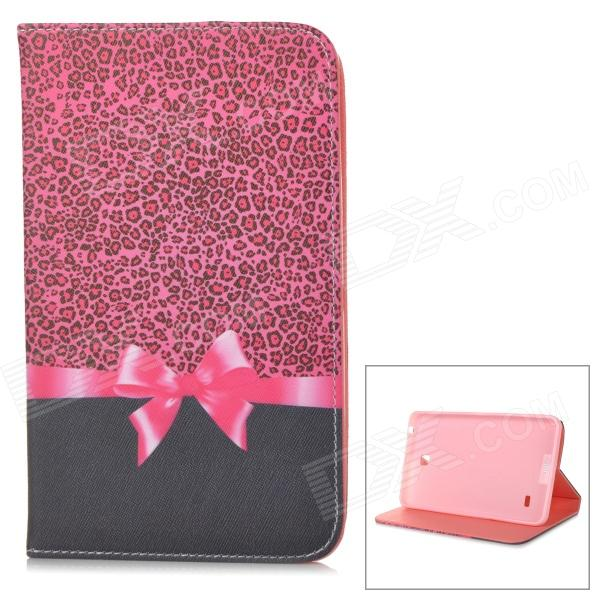 "Stylish Boetie Pattern Flip-open PU Case w/ Holder for 7"" Samsung Galaxy Tab 4 / T230 / T231 / T235"