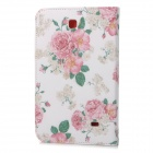 Flower Pattern Flip Open PU Case w/ Stand for 7.0'' Samsung Galaxy Tab 4 / T230 / T231 / T235