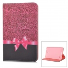 "Stylish Boetie Pattern Flip-open PU Case w/ Holder for 8"" Samsung Galaxy Tab 4 / T330 / T331"