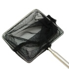 Mini Square Retractable Small Fish Catching Net - Black + Silver