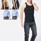 NEJE Men's Body Belly Waist Girdle Slimming Tummy Shaper Vest - Black (L)