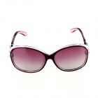 SYS0035 Women's PC Frame Resin Lens UV400 Protection Polarized Sunglasses - Brownish Red