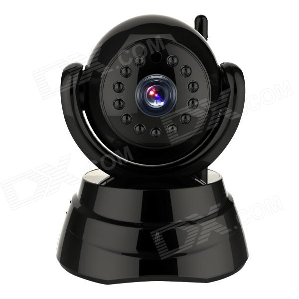 WANSCAM JW0003 1/4 CMOS 0.3MP Indoor IP Camera w/ 13-IR-LED / Wi-Fi - Black (EU Plug) wanscam jw0004 1 4 cmos 0 3mp wireless p2p indoor ip camera w 13 ir led wi fi white uk plug