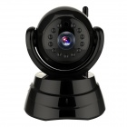 "WANSCAM JW0003 1/4"" CMOS 0.3MP Indoor IP Camera w/ 13-IR-LED / Wi-Fi - Black (EU Plug)"