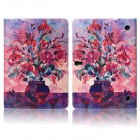 Hat-prince Flowers Pattern Protective Case for Samsung Galaxy Tab S 10.5 T800 - Multicolor