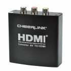 CHEERLINK Full HD 1080p AV to HDMI1.3 Audio Converter w/ EU Plug - Black
