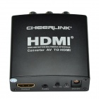 CHEERLINK Full HD 1080p AV для HDMI 1.3 Audio Converter ж / ЕС разъем - черный